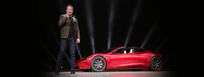 Elon Musk | Tesla Roadster 2